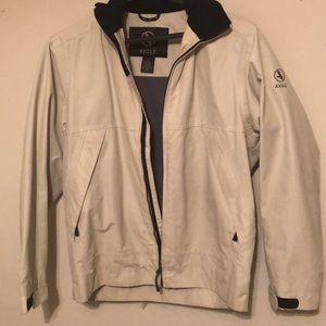 Aigle men's jacket with rain hood. Beige, Large